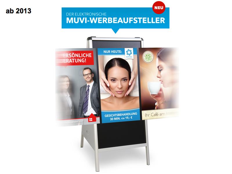 MUVI elektronischer Werbeaufsteller