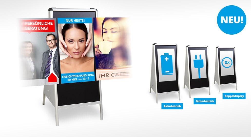MUVI Werbeaufsteller - Foto- und Videoinhalte in Full-HD präsentieren
